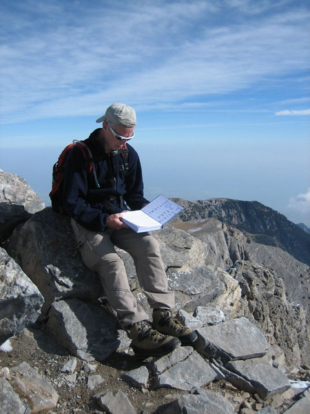summit book of the highest summit of Mnt. Olympus, Myticas 2917m. (Mnt Olympus,Greece 2005)