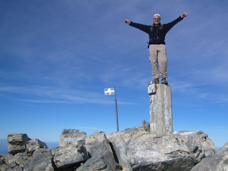 summit Myticas 2917m. highest point of Greece (Mnt Olympus,Greece 2005)
