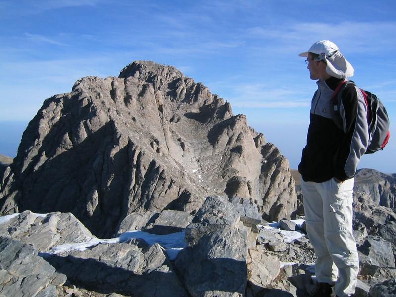 the highest summit of Mnt. Olympus, Myticas 2917m. (Mnt Olympus,Greece 2005)