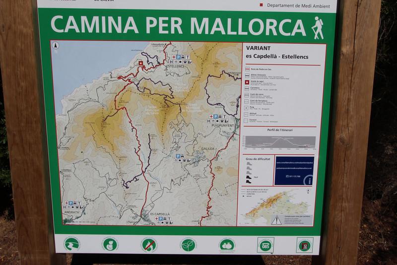 Map, Boal de ses Serveres-GR 221-Puig de Galatzo 1026m