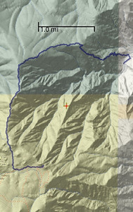 This is an image captured from my GPS application showing the route on a topographic map.