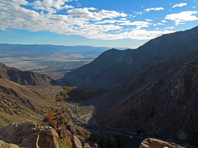 Here we are, a little higher up looking back down the valley towards Palm Springs.