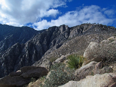 A view of the ridge line we will follow that will take us from about 7,000' in elevation over to 8,500' in elevation.