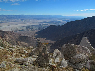 Another view looking down the valley into the Palm Springs desert area.