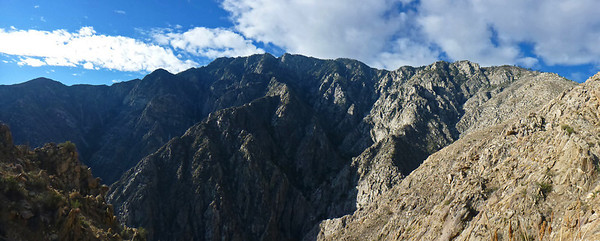 Huy provided this panoramic photo of Leatherneck Ridge on the right and the ridge line in the center - which is about 8,500' in elevation.