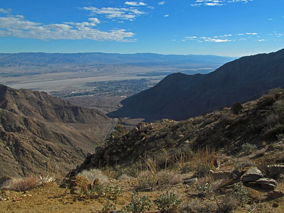 Another view from higher up, looking down the valley towards Palm Springs.