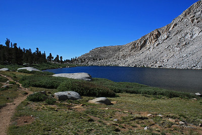 This is a photo of Cottonwood Lake 3 just past the area where the ranger building is located.