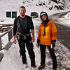 Ouray 2012-38 - Peter and Leah on the Upper Bridge. Yes, everyone has a different thermostat.