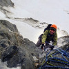 Me reaching the top of pitch one (Photo credit Dan Joll)