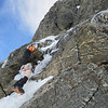 Me soloing up to the start of the route  (Photo credit Dan Joll)