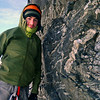 Me at the first belay (Photo credit Ben Dare)