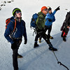 Ben Dare, Dan Joll, Steve Skelton and Vaughan Snowdon checking out potential route options