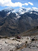 near the Vientuna pass 4770m. (Peru 2009, Jancarurish 4250m. - Vientuna pass 4770m. - Osururi pass 4860m. - Lake Cullicocha 4628m. Cordillera Blanca)