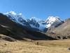 the trekkingroute (Peru 2009, Safuna 4150m. - Lakes Safuna - Mesapata pass 4460m - underneath Gara Gara pass 4550m. Cordillera Blanca)