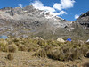 Campground 8, underneath the Gara Gara pass 4550m. (Peru 2009,  underneath Gara Gara pass 4550m. Cordillera Blanca)