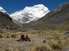 former basecamp of the Alpamayo 4200m and Santa Cruz  (Peru 2009, Jancarurish 4250m. Cordillera Blanca)