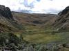 landscape after the pass Alto de Pucaraju 4650m (Peru 2009 Tuctupampa 4100m.- Alto de Pucaraju 4650m - Ingenio 4125m. Cordillera Blanca)
