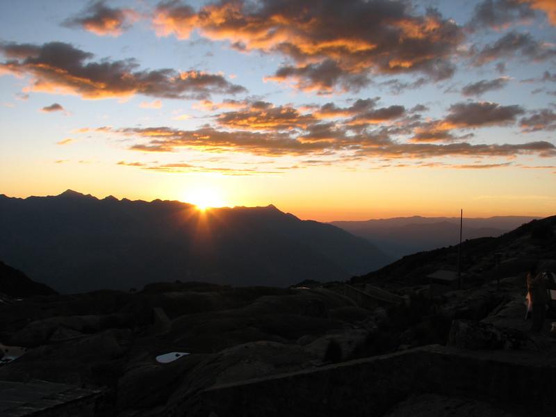 sunset in the West of the Cordillera Negra (Peru 2009,  National Park Huascaran, Cordillera Blanca )