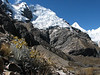 the first view on the W side of the Alpamayo 5947m. (Peru 2009, Lake Cullicocha 4628m. - Calamina 3950m. Cordillera Blanca)