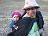 Peruvian mother with her child (Peru 2009, Yuraj Machay 4000m. Cordillera Blanca)
