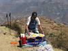 backpack lunch (Peru 2009, Lake Cullicocha 4628m. -  Calamina 3950m. Cordillera Blanca)