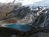 Lago Taullicocha and glacier of Nevados Taulliraju 5830m. (Peru 2009,  Taullipampa 4250m. - Punto Union 4760m - Tuctupampa 4100m. Cordillera Blanca)