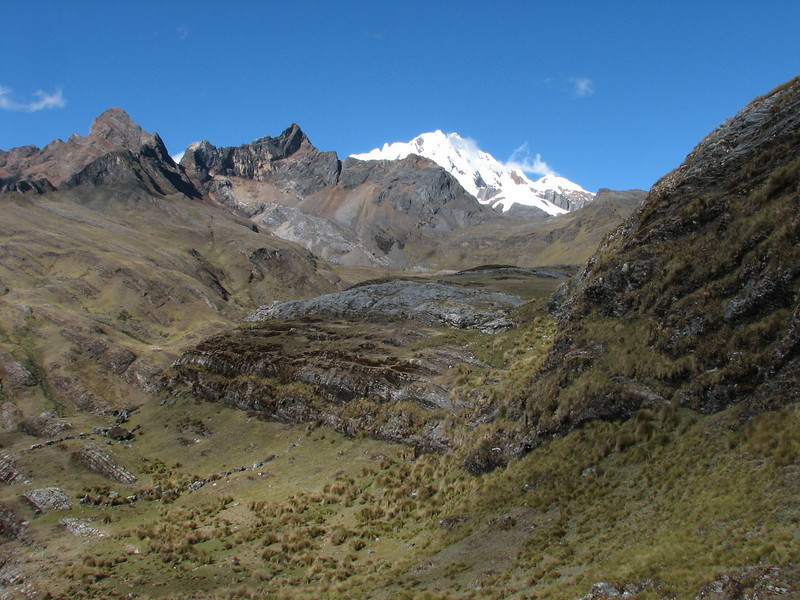 landscape with the Nevados Pucajirca in the background (Peru 2009, Yuraj Machay 4000m. - Collota 4360m.pass - Safunna 4150m. Cordillera Blanca)