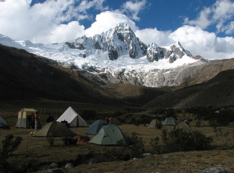 Campsite 2, Taullipampa 4250m. (Peru 2009,  Taullipampa 4250m. Cordillera Blanca)