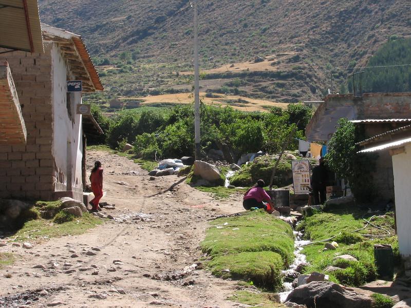 the village Banos, end-place of the trekking (Peru 2009,  National Park Huascaran, Cordillera Blanca)