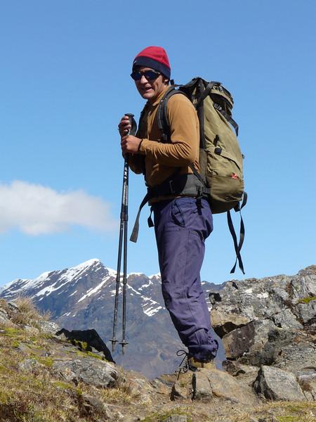 our guide: Edwin Rimac Trejo (Peru 2009, Safuna 4150m. - Lakes Safuna - Mesapata pass 4460m - underneath Gara Gara pass 4550m. Cordillera Blanca)
