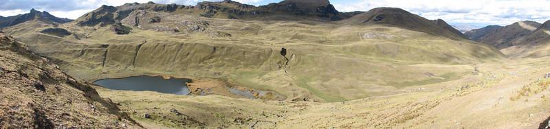 panorama of the valley (Peru 2009, Yuraj Machay 4000m. Cordillera Blanca)