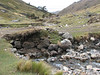 come across streams (Peru 2009, Pomabamba 2950m. - pass - village Yanacollpa - Yuraj Machay 4000m. Cordillera Blanca)