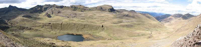 panorama ot the valley of  Yuraj Machay 4000m.  (Peru 2009, Yuraj Machay 4000m. Cordillera Blanca)