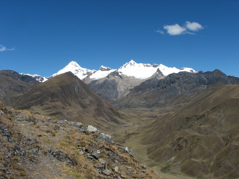 landscape (Peru 2009, Yuraj Machay 4000m. - Collota 4360m.pass - Safunna 4150m. Cordillera Blanca)