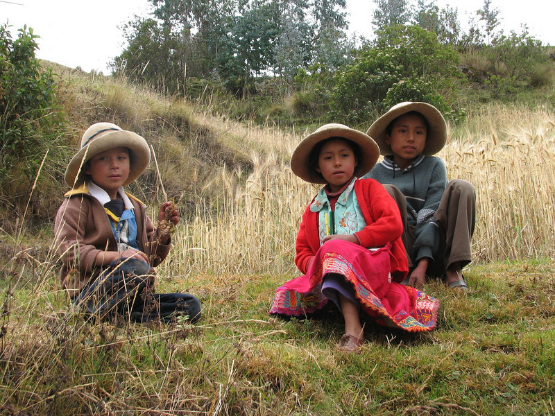 the village Yanacollpa is specialised in making felt hads (Peru 2009, Pomabamba 2950m. - pass - village Yanacollpa - Yuraj Machay 4000m. Cordillera Blanca)