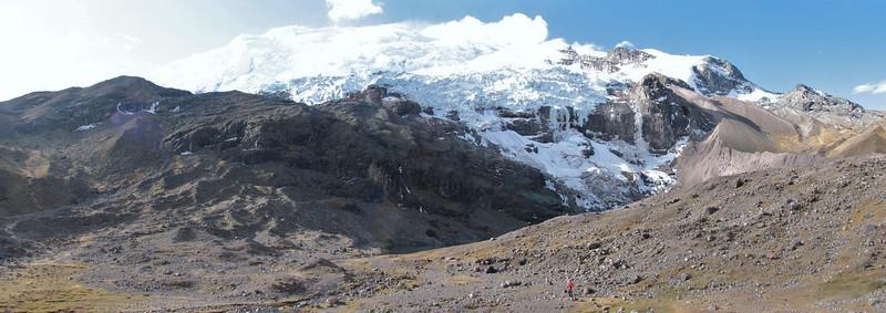 panorama Auzangate 6200m. (Peru 2009, Upispampa- Arapapass 4770m - Auzangate pass 4870m - Auzangatecocha 4670m. Ausangate)