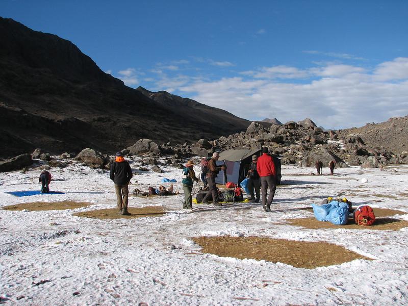 Campground 4, Teclla cocha 4800m.