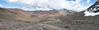 panorama of the landscape (Peru 2009, Auzangatecocha 4670m - Palomapass 5130m - Cerro Puca Punta 4480m - Teclla cocha 4800m. Ausangate)