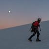 Gemma gaining height on the Bonar Glacier