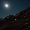 Moonlight, 2.45 am on French Ridge