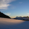 The Bonar Glacier at sunset