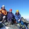 Aaron, Nina and Danilo on the summit of Mt Avalanche