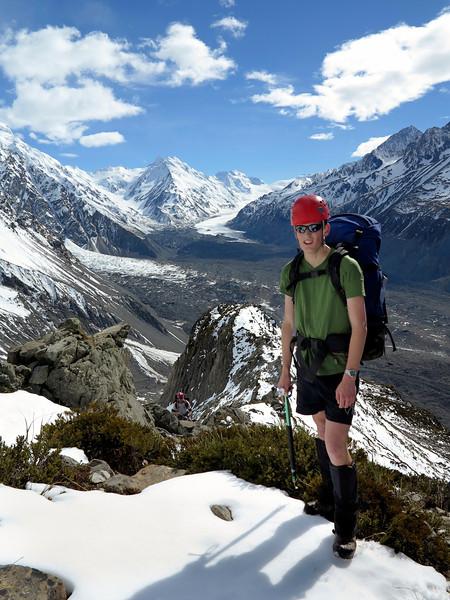 Rowan above the Tasman Glacier