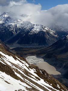 Hooker Lake and Mueller Lake (far left) from Ball Pass