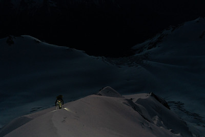 First Light on the Silberhorn arête