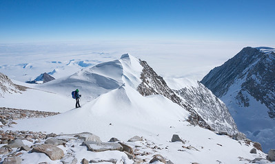 On the upper slops of Mt Shinn, Antarctica