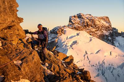 Sunrise on the Northwest Ridge