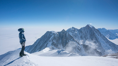 Looking north along the Ellsworth Mountains from the summit of Mt Shinn, Antarctica