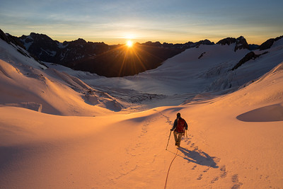 Sunrise in the Linda Glacier