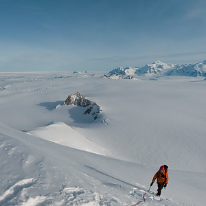 Climbing in the Stokes Peaks, Adelaide Island, Antarctica